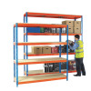 Heavy Duty Painted Additional Shelf 1500x750mm Orange/Zinc 378854