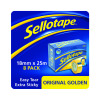 Sellotape 24mm x 66m Golden Tape Pack of 6 2028242
