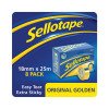 Sellotape Original Golden Tape 18mmx25m (Pack of 8) 1569069