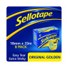 Sellotape 18mm x 33m Golden Tape (Pack of 8) 1443251
