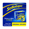 Sellotape 24mm x 66m Golden Tape Pack of 12 1443268