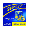 Sellotape 24mm x 50m Golden Tape Pack of 6 1443266