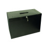 Cathedral Metal File Box Foolscap Black HOBlack