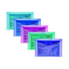 Snopake Polyfile A5 Wallet Assorted Electra Colours (Pack of 5) 11355