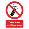 Safety Sign Do Not Use Mobile Phones A5 Self-Adhesive PH01051S