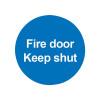 Safety Sign Fire Door Keep Shut 100x100mm PVC FR07002R