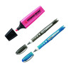 Stabilo Boss Highlighter Pen Pink (Pack of 10) with Free Worker Rollerball (Pack of 2) SS811663