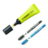 Stabilo Neon Highlighter Yellow (Pack of 10) with Free Worker Rollerball (Pack of 2) SS811667