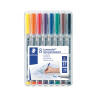 Staedtler Lumocolour Universal Pen Water Soluble Medium Assorted (Pack of 8) 315-WP8