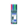 Staedtler Lumocolour Pen Permanent Medium Assorted (Pack of 4) 317-WP4