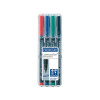 Staedtler Lumocolour Universal Pen Permanent Medium Assorted (Pack of 4) 317-WP4