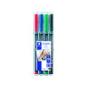 Staedtler Lumocolour Universal Pen Permanent Fine Assorted (Pack of 4) 318-WP4