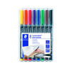 Staedtler Lumocolor Fine Tip Permanent OHP Pen Assorted (Pack of 8) 318-WP8
