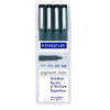 Staedtler Fineliner Black PenAssorted Nib Sizes (Pack of 4) 308-WP4