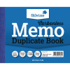 Silvine Carbonless Duplicate Memo Book Ruled Feint Blue 102x127mm (Pack of 5) 703-P