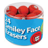 Tiger Assorted Smiley Face Erasers (Pack of 24) 302199