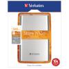 Verbatim Store n Go USB 3.0 Portable 500GB Silver Hard Drive 53021