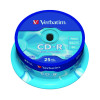 Verbatim CD-R Datalife Non-AZO 80minutes 700MB 52X Non-Printable Spindle (Pack of 25) 43432