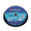 Verbatim CD-R Datalife Non-AZO 80minutes 700MB 52X Non-Printable Spindle (Pack of 10) 43437