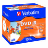 Verbatim DVD-R Speed Jewel Case 4x 4.7GB (Pack of 10) 43285