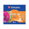 Verbatim 4.7GB Printable Jewel Case DVD-R (Pack of 5) 43521