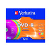Verbatim 4.7GB Non-Printable Jewel Case DVD-R (Pack of 5) 43557