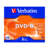 Verbatim 4.7GB 4x Speed Jewel Case DVD-R (Pack of 5) 43246