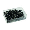 Map Pins Black 4.5mm Spherical Plastic Heads (Pack of 100) 26891