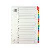 Q-Connect Multi-Punched A-Z 20-Part Reinforced Multi-Colour A4 Index Pre-Printed Tabs KF01523