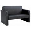 Face Single Seated Sofa Black Bonded Leather