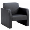 Face Double Seated Sofa Black Bonded Leather