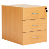 Fraction Plus 3 Drawer Fixed Pedestal - Beech