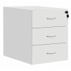 Fraction Plus 3 Drawer Fixed Pedestal - White
