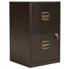 Bisley 2 Drawer A4 Home Filing Cabinet - Black