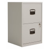 Bisley 2 Drawer A4 Home Filing Cabinet - Grey