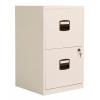 Bisley 2 Drawer A4 Home Filing Cabinet - Chalk