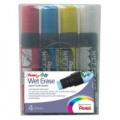 Pentel Liquid Chalk Marker Chisel Tip Jumbo Assorted (Pack of 4) SMW56/4-BCGW