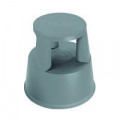 2Work Plastic Step Stool with Non-Slip Rubber Base 430mm Dark Grey T7/Dgrey