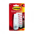 3M Command Adhesive Hook Large White with Two Adhesive Strips 17003