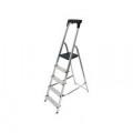 Werner Aluminium High Handrail 5 Tread Step Ladder 7410518