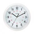Acctim Metro 24 Hour Plastic Wall Clock 300mm White 21162
