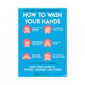 Avery How to Wash Hands Label 297x210mm A4 (Pack of 2) COVHTA4