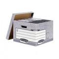 Bankers Box Storage Box Large Grey (Pack of 10) 01810-FFLP