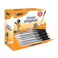 Bic Cristal Ballpoint Pen Medium Black (Pack of 100) 896040