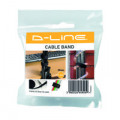 DLine Cable Tidy Band Reusable Hook and Loop Black CTTAPE20001