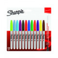 Sharpie Permanent Marker Fine Assorted (Pack of 12) 1986438