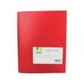 Q-Connect Polypropylene Display Book 40 Pocket Red KF01258