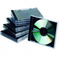 Q-Connect Black /Clear CD Jewel Case (Pack of 10) KF02209