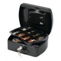 Q-Connect Cash Box 8 Inch Black KF02602