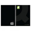 Q-Connect Hardback Wirebound Book A4 Black (Pack of 3) KF03727